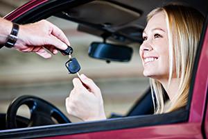 happy auto body repair customer